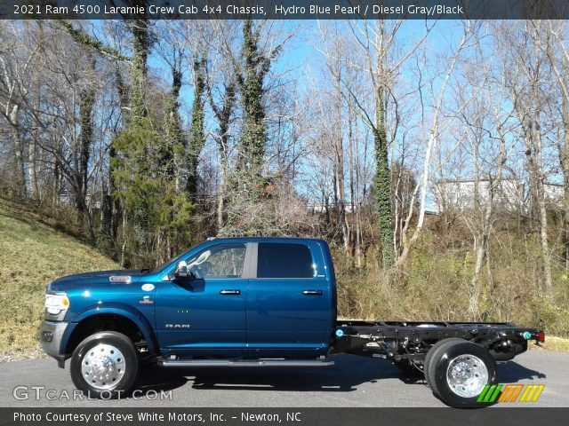 2021 Ram 4500 Laramie Crew Cab 4x4 Chassis in Hydro Blue Pearl
