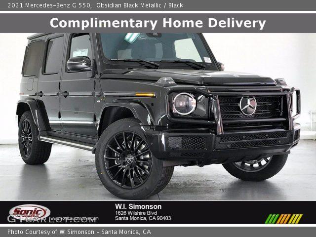 2021 Mercedes-Benz G 550 in Obsidian Black Metallic