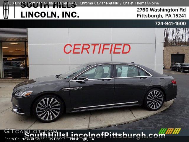 2020 Lincoln Continental Black Label AWD in Chroma Caviar Metallic