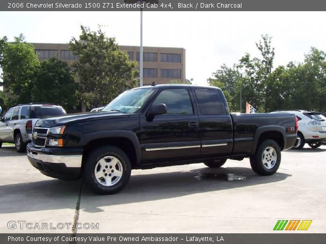 black 2006 chevrolet silverado 1500 z71 extended cab 4x4 dark charcoal interior gtcarlot. Black Bedroom Furniture Sets. Home Design Ideas