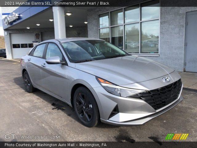 2021 Hyundai Elantra SEL in Shimmering Silver Pearl