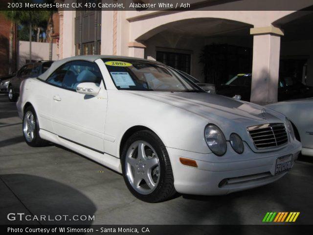 Alabaster white 2003 mercedes benz clk 430 cabriolet for 2003 mercedes benz clk430