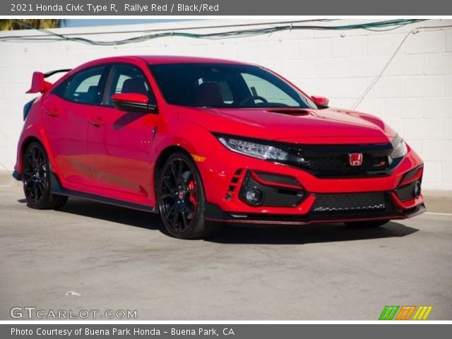 2021 Honda Civic Type R in Rallye Red