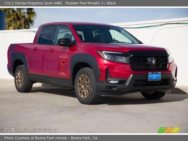 2021 Honda Ridgeline Sport AWD in Radiant Red Metallic II