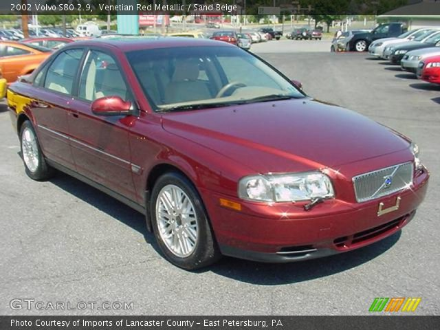 venetian red metallic 2002 volvo s80 2 9 sand beige. Black Bedroom Furniture Sets. Home Design Ideas