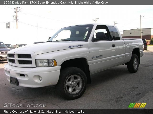 bright white 1999 dodge ram 1500 sport extended cab 4x4 mist gray interior. Black Bedroom Furniture Sets. Home Design Ideas