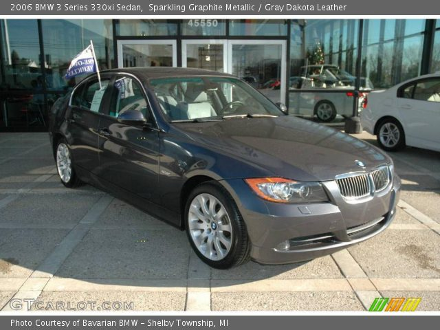 sparkling graphite metallic 2006 bmw 3 series 330xi sedan gray dakota leather interior. Black Bedroom Furniture Sets. Home Design Ideas