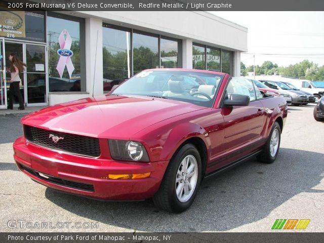 Redfire Metallic 2005 Ford Mustang V6 Deluxe Convertible Light Graphite Interior Gtcarlot