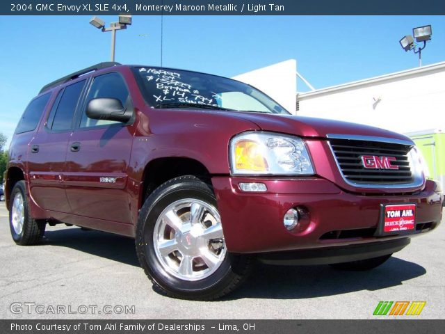 monterey maroon metallic 2004 gmc envoy xl sle 4x4. Black Bedroom Furniture Sets. Home Design Ideas