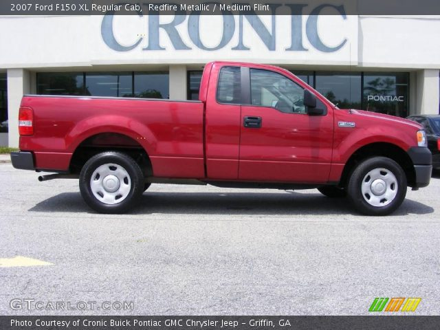 redfire metallic 2007 ford f150 xl regular cab medium flint interior. Black Bedroom Furniture Sets. Home Design Ideas