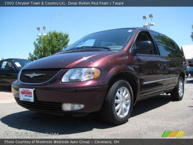 deep molten red pearl 2003 chrysler town country lxi. Black Bedroom Furniture Sets. Home Design Ideas