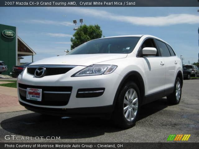crystal white pearl mica 2007 mazda cx 9 grand touring. Black Bedroom Furniture Sets. Home Design Ideas