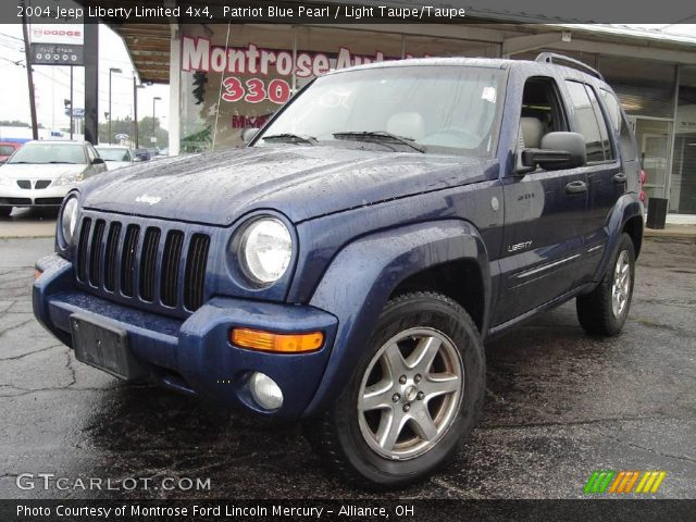 Patriot Blue Pearl 2004 Jeep Liberty Limited 4x4 Light Taupe Taupe Interior