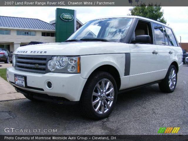 chawton white 2007 land rover range rover hse parchment interior vehicle. Black Bedroom Furniture Sets. Home Design Ideas