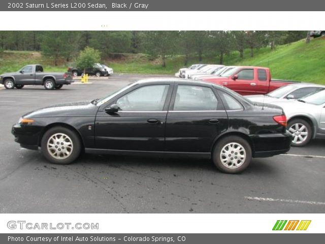 black 2002 saturn l series l200 sedan gray interior vehicle archive 14313201. Black Bedroom Furniture Sets. Home Design Ideas