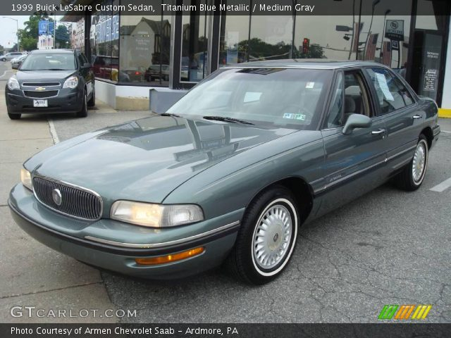titanium blue metallic 1999 buick lesabre custom sedan medium gray interior. Black Bedroom Furniture Sets. Home Design Ideas