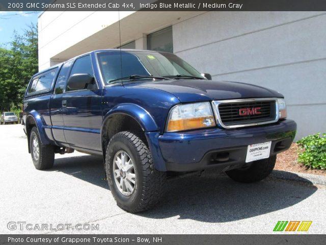 indigo blue metallic 2003 gmc sonoma sls extended cab 4x4 medium gray interior gtcarlot. Black Bedroom Furniture Sets. Home Design Ideas