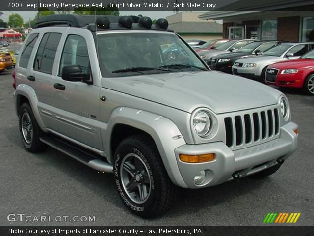 bright silver metallic 2003 jeep liberty renegade 4x4. Black Bedroom Furniture Sets. Home Design Ideas