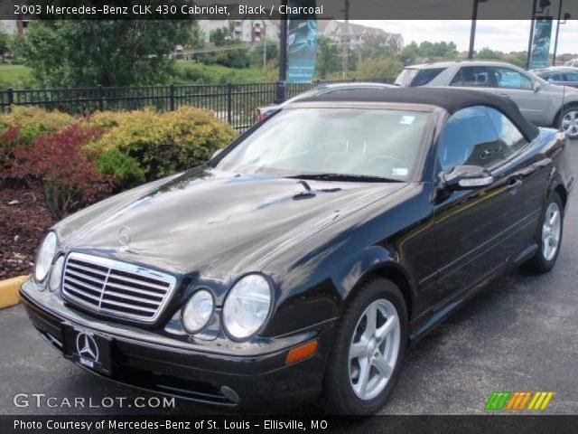 Black 2003 mercedes benz clk 430 cabriolet charcoal for 2003 mercedes benz clk430