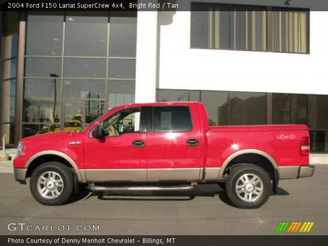 bright red 2004 ford f150 lariat supercrew 4x4 tan interior vehicle archive. Black Bedroom Furniture Sets. Home Design Ideas