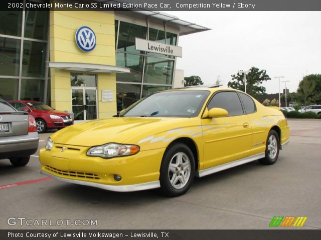 2002 Chevrolet Monte Carlo SS Limited Edition Pace Car in Competition Yellow