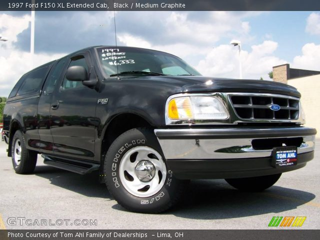 black 1997 ford f150 xl extended cab medium graphite interior vehicle. Black Bedroom Furniture Sets. Home Design Ideas