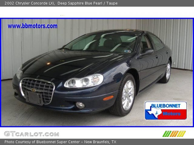 Deep Sapphire Blue Pearl - 2002 Chrysler Concorde LXi - Taupe Interior ...