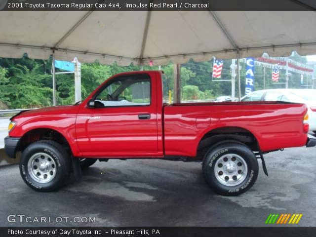 impulse red pearl 2001 toyota tacoma regular cab 4x4 charcoal interior. Black Bedroom Furniture Sets. Home Design Ideas