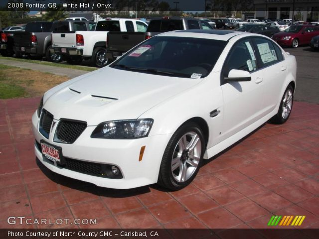 2008 Pontiac G8  in White Hot