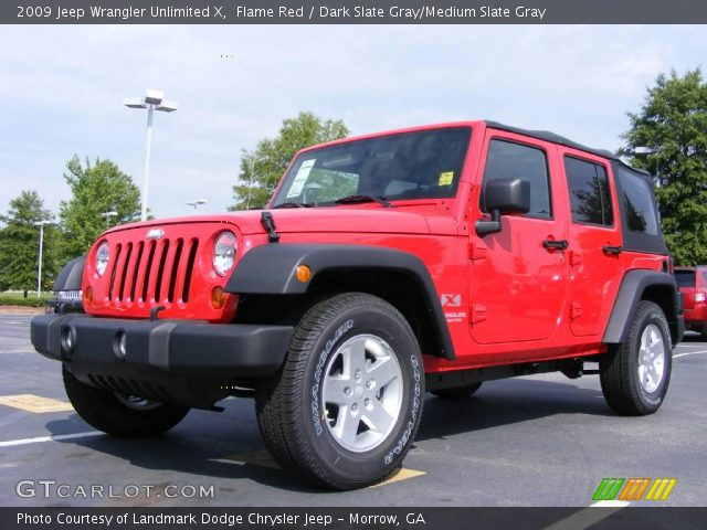 Flame red 2009 jeep wrangler unlimited x dark slate Jeep wrangler unlimited red interior