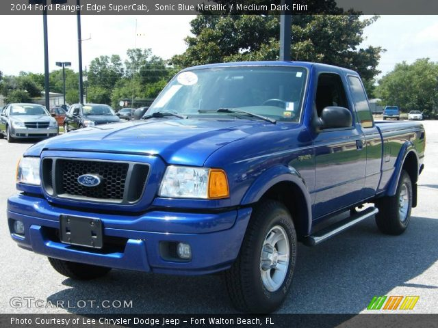 sonic blue metallic 2004 ford ranger edge supercab medium dark flint interior. Black Bedroom Furniture Sets. Home Design Ideas