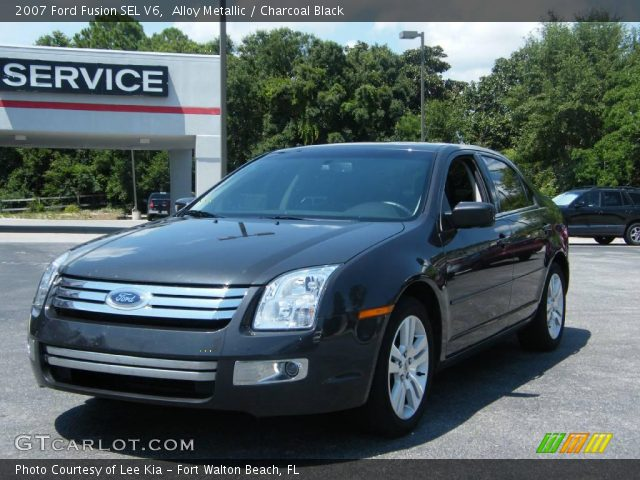 alloy metallic 2007 ford fusion sel v6 charcoal black. Black Bedroom Furniture Sets. Home Design Ideas