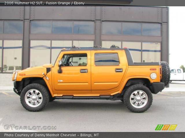 Fusion Orange 2006 Hummer H2 Sut Ebony Interior Gtcarlot