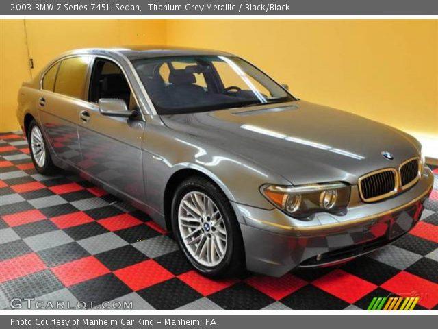 titanium grey metallic 2003 bmw 7 series 745li sedan. Black Bedroom Furniture Sets. Home Design Ideas