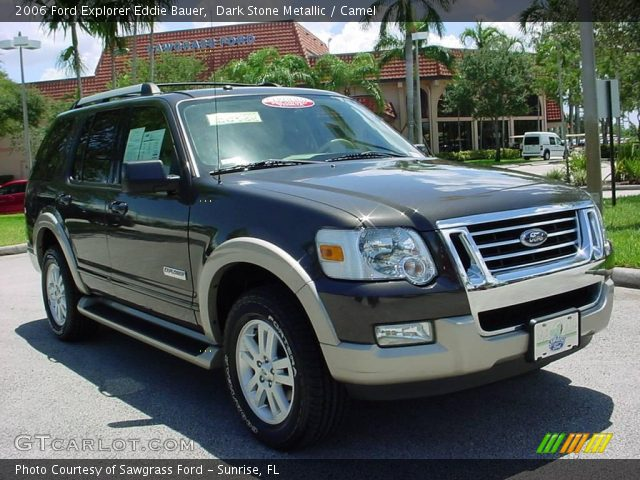 Dark Stone Metallic 2006 Ford Explorer Eddie Bauer Camel Interior Vehicle