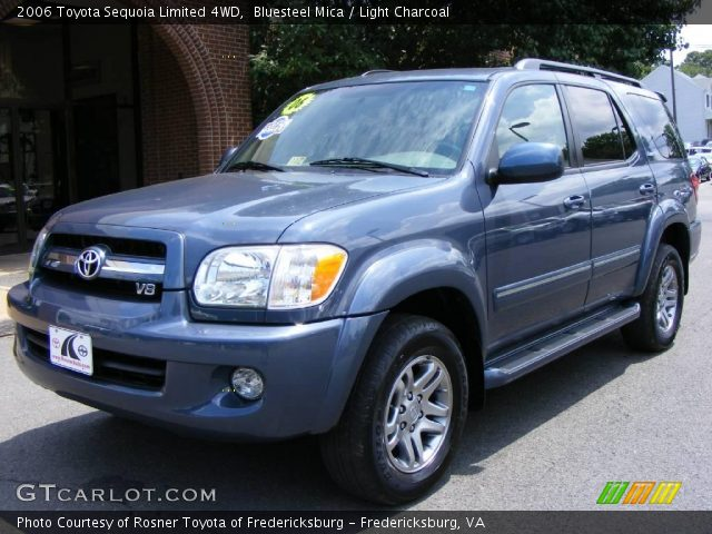 bluesteel mica 2006 toyota sequoia limited 4wd light charcoal interior. Black Bedroom Furniture Sets. Home Design Ideas