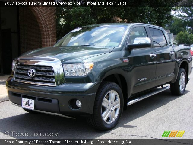 timberland mica 2007 toyota tundra limited crewmax 4x4 beige interior. Black Bedroom Furniture Sets. Home Design Ideas
