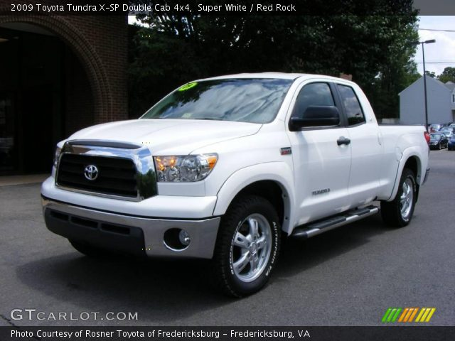 super white 2009 toyota tundra x sp double cab 4x4 red rock interior. Black Bedroom Furniture Sets. Home Design Ideas