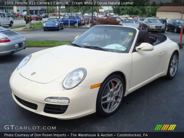 cream white 2009 porsche 911 carrera s cabriolet cocoa natural leather interior gtcarlot. Black Bedroom Furniture Sets. Home Design Ideas