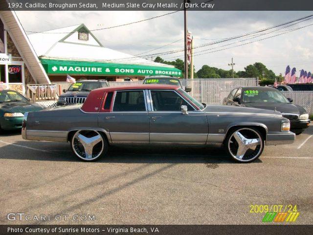 1992 Cadillac Brougham Sedan in Medium Slate Gray Metallic