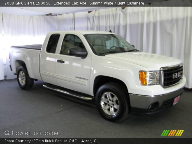 summit white 2008 gmc sierra 1500 slt extended cab 4x4. Black Bedroom Furniture Sets. Home Design Ideas