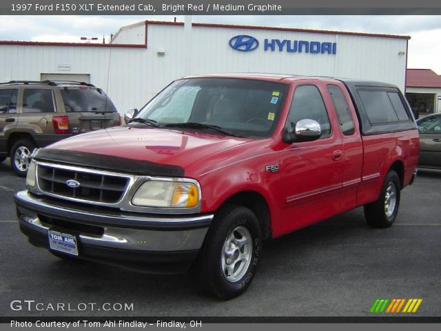 bright red 1997 ford f150 xlt extended cab medium graphite interior vehicle. Black Bedroom Furniture Sets. Home Design Ideas