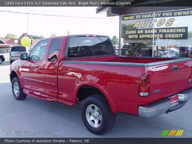 bright red 1999 ford f150 xlt extended cab 4x4 medium graphite interior. Black Bedroom Furniture Sets. Home Design Ideas