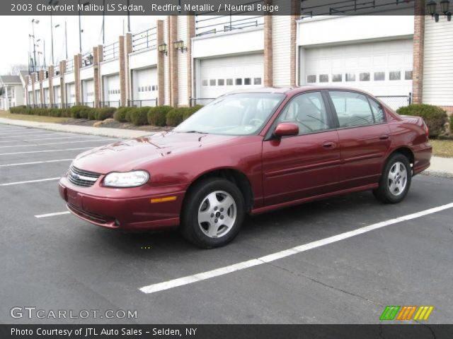 2003 Chevrolet Malibu LS Sedan in Redfire Metallic. Click to see large ...