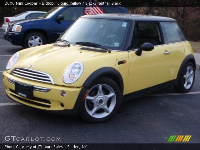 liquid yellow 2006 mini cooper hardtop black panther black interior vehicle. Black Bedroom Furniture Sets. Home Design Ideas