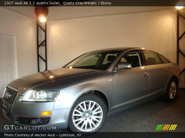 quartz grey metallic 2007 audi a6 3 2 quattro sedan ebony interior vehicle. Black Bedroom Furniture Sets. Home Design Ideas