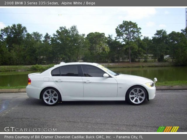 alpine white 2008 bmw 3 series 335i sedan beige interior vehicle archive. Black Bedroom Furniture Sets. Home Design Ideas