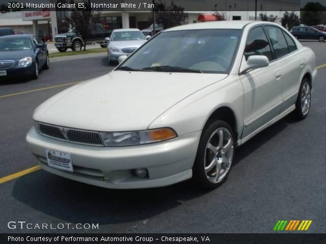 Northstar White 2001 Mitsubishi Galant ES with Tan interior 2001 Mitsubishi