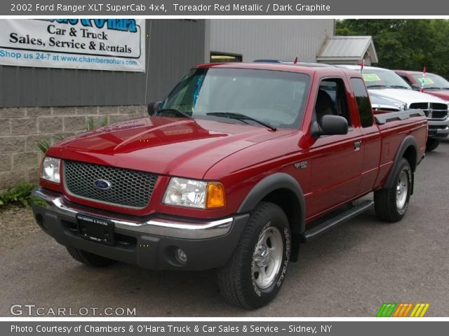 2002 ford ranger xlt supercab 4x4 in toreador red metallic