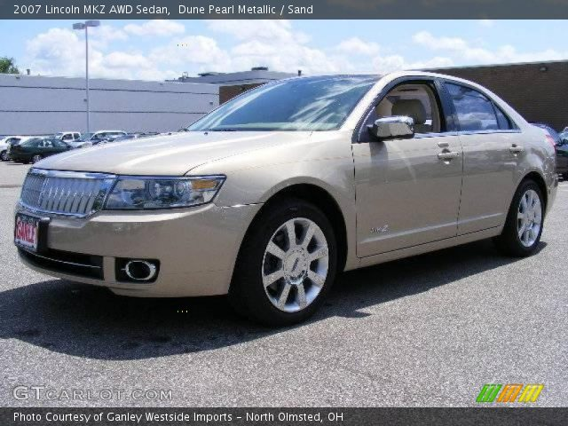 dune pearl metallic 2007 lincoln mkz awd sedan sand. Black Bedroom Furniture Sets. Home Design Ideas